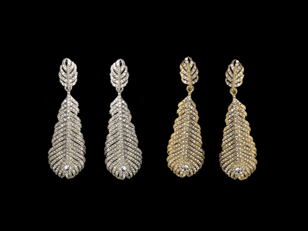 """Style 8126ER-I  -  2½"""" long  -  Silver or Gold"""