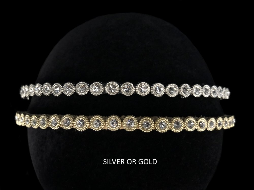 "Style 8133-I  -  5/16"" wide  -  Silver or Gold"