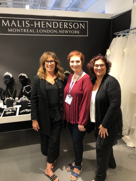 From Birmingham Michigan, Elen and Angie greet Lorenza (center) from  One In A Million Bridal  .