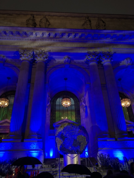 What a wonderful event the Gala was, held at the magnificent New York Public Library