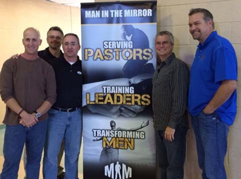 David Delk and three Area Directors at Chris's home church annual men's event. Chris is 3rd from left.