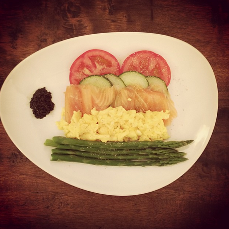 Brendan cooks breakfast for his lady.