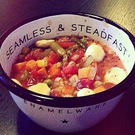 Hilary's veggie soup (via Instagram)
