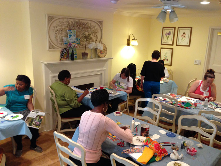 Our residents creating art at the Bowery Mission