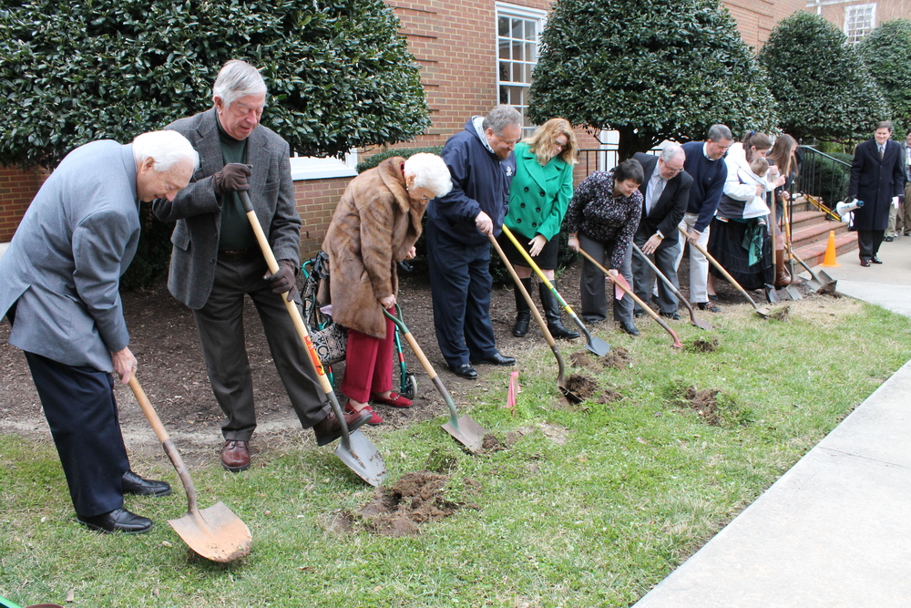 Groundbreaking on March 3, 2013 for our renovation and expansion project.