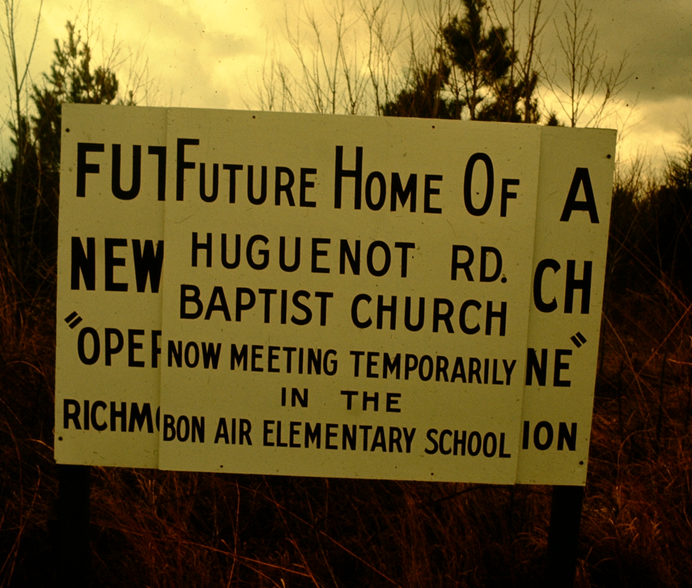 Before breaking ground on the current campus, the church met in a school.