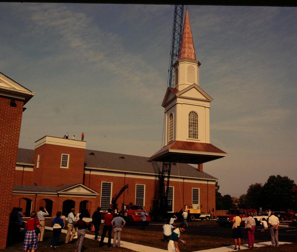 The sanctuary was completed in 1986 with the highest point in Chesterfield County at the time of its completion.