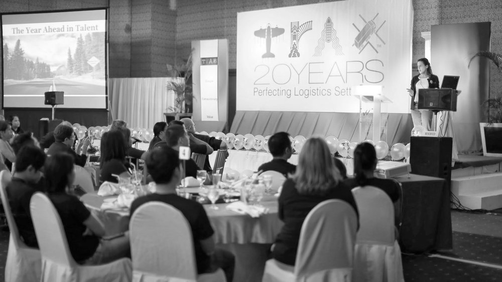 Presenting the new company-wide initiative for the first time at the organization's 20-year anniversary town hall in Cebu, Philippines.