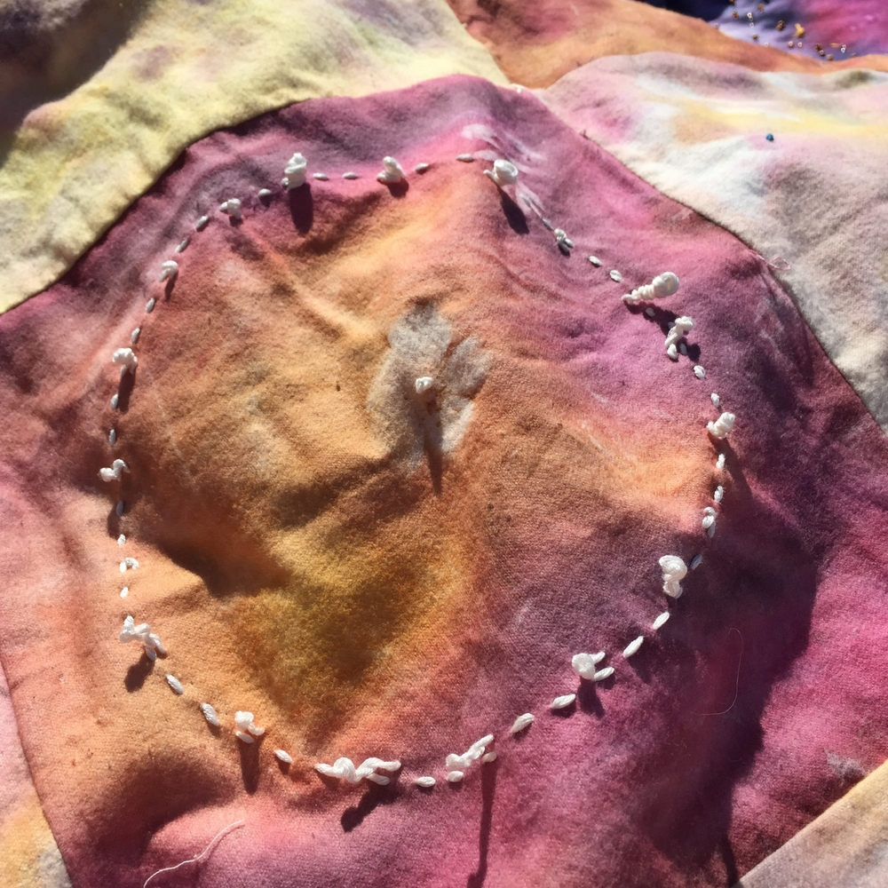 Earth Blanket Detail by Terri Fidelak & collaborators, 2015