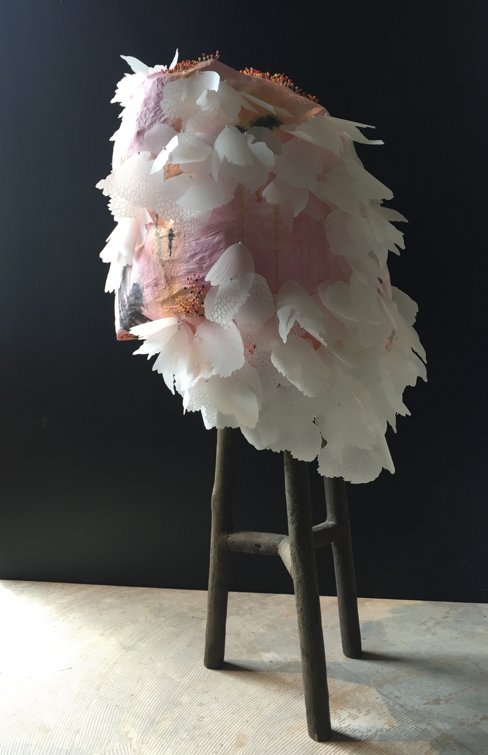 Ma Poule by Terri Fidelak, 2015, mixed media, 6'x2.5'x3'