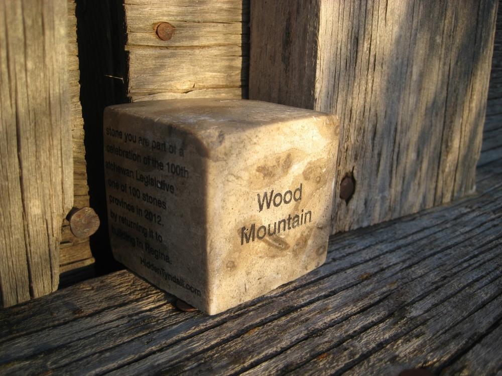 "Hidden Tyndall | Wood Mountain by Terri Fidelak, 2012, engraved tyndall stone, 2""x2""x2"""