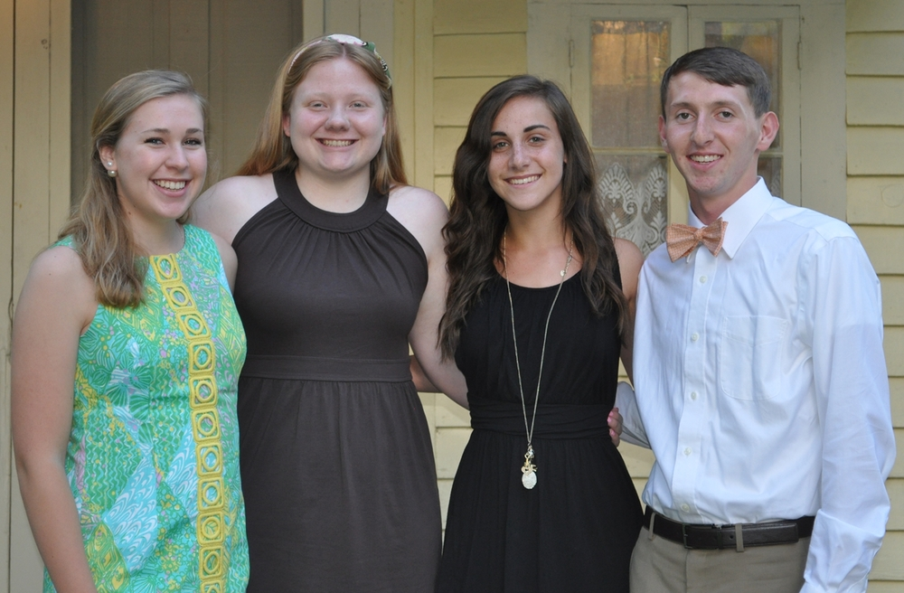 2015 Aberdeen Lions Scholarship Winners: Heather Alers-Hankey, Tori Little, Marissa Bouchard, Robert Anderson