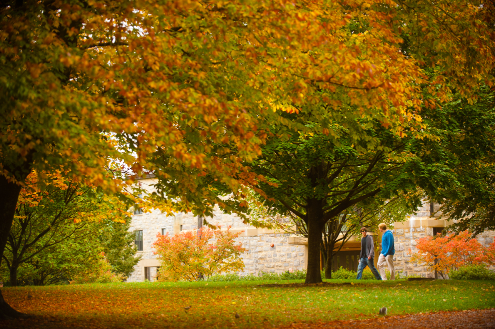 Fall colors at Virginia Tech in Blacksburg, Va.