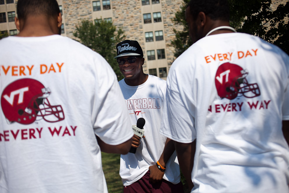 Move in Day at Virginia Tech in Blacksburg, Virginia.