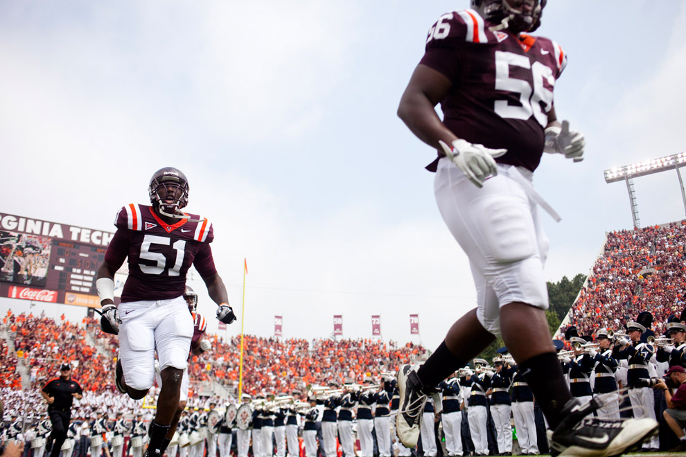 Images from the Virginia Tech vs. Appalachian State in Blacksburg, Virginia.