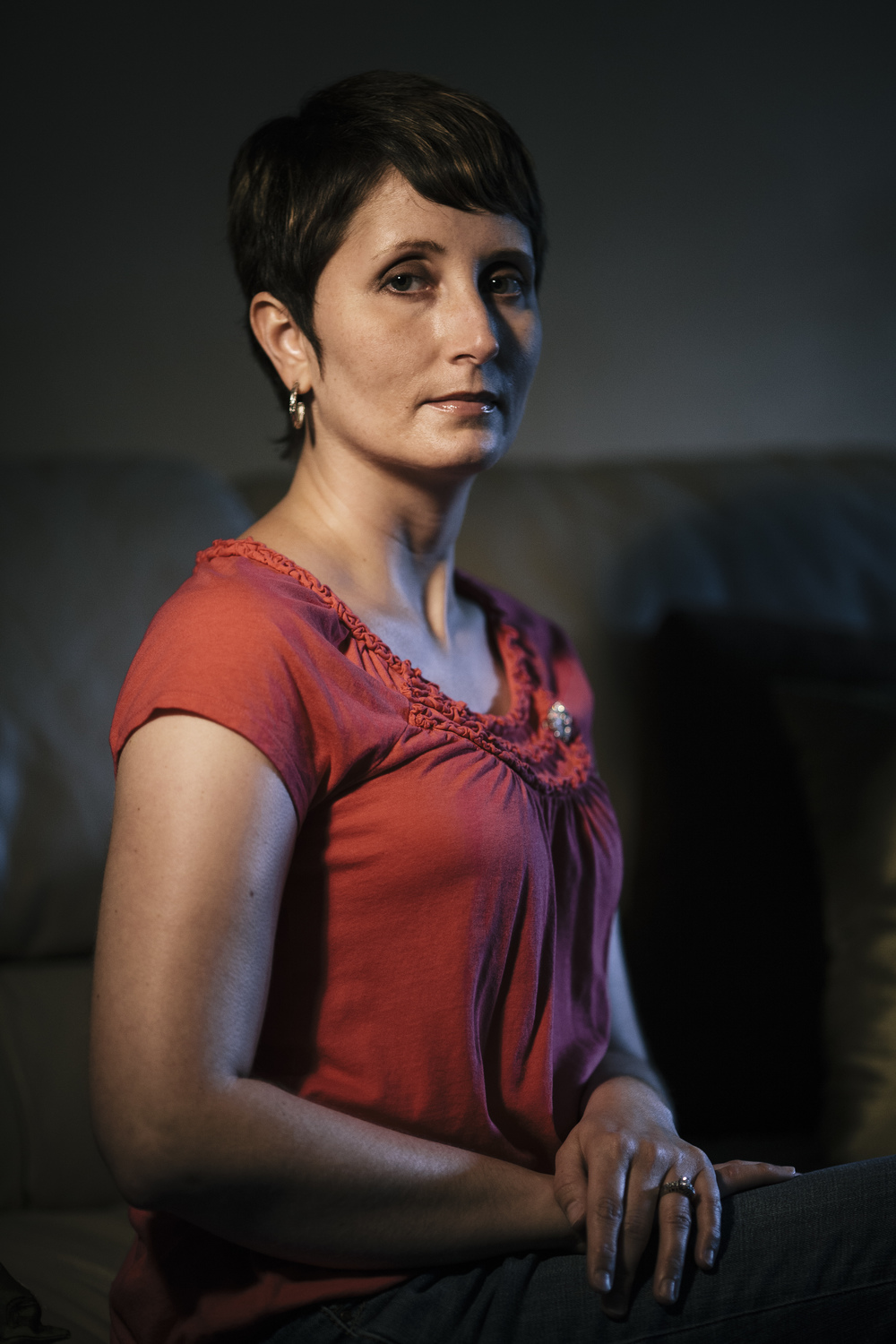 Missy Dye, breast cancer survivor for the Roanoker Magazine.
