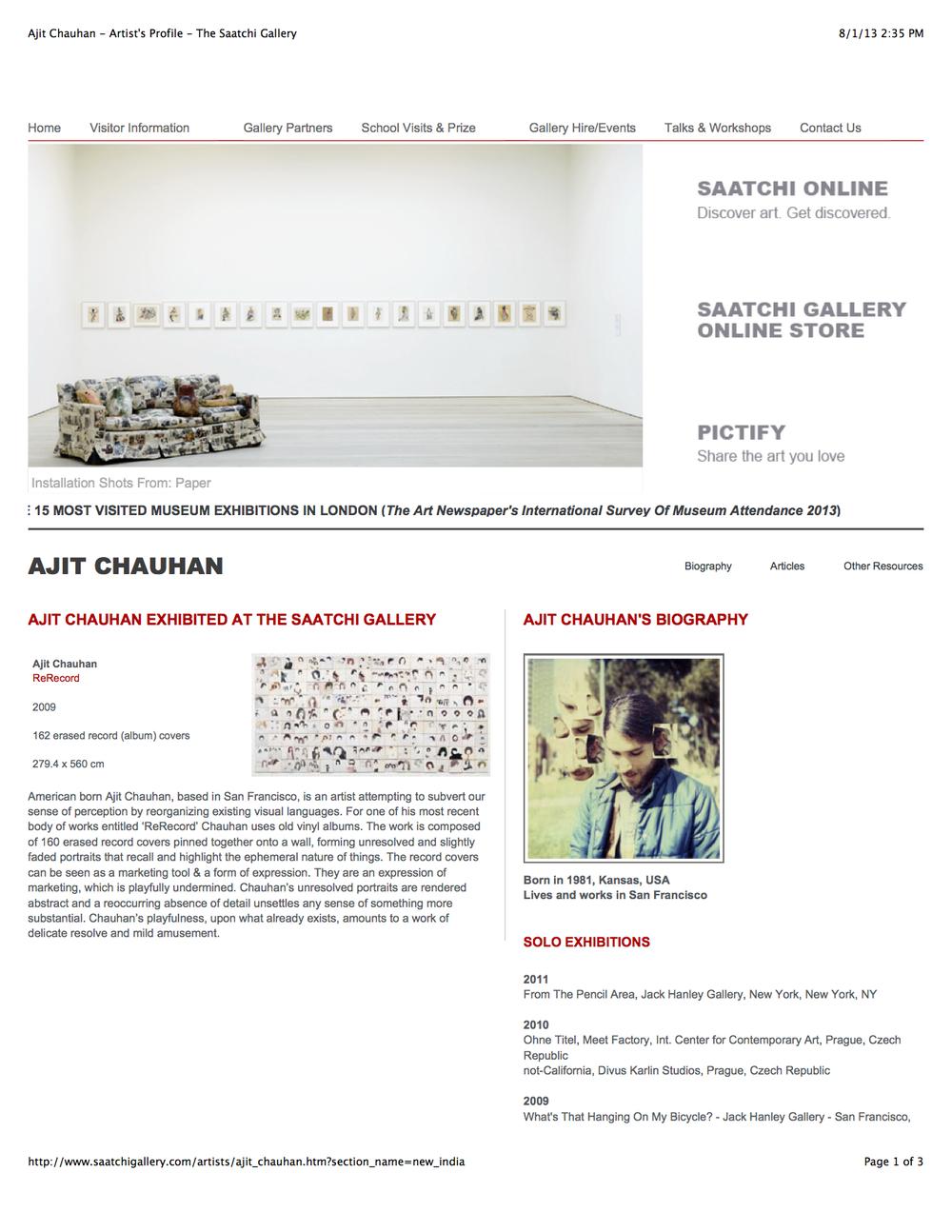 Ajit Chauhan - Artist's Profile - The Saatchi Gallery.jpg