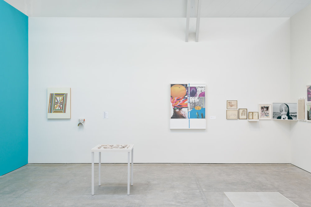Artwork for Bedrooms @ The Wattis Institute  Featuring works by Tauba Auerbach, Sarah Cain, Ajit Chauhan, Veronica DeJesus, Colter Jacobsen, Sahar Khoury, Alicia McCarthy, and Will Rogan.