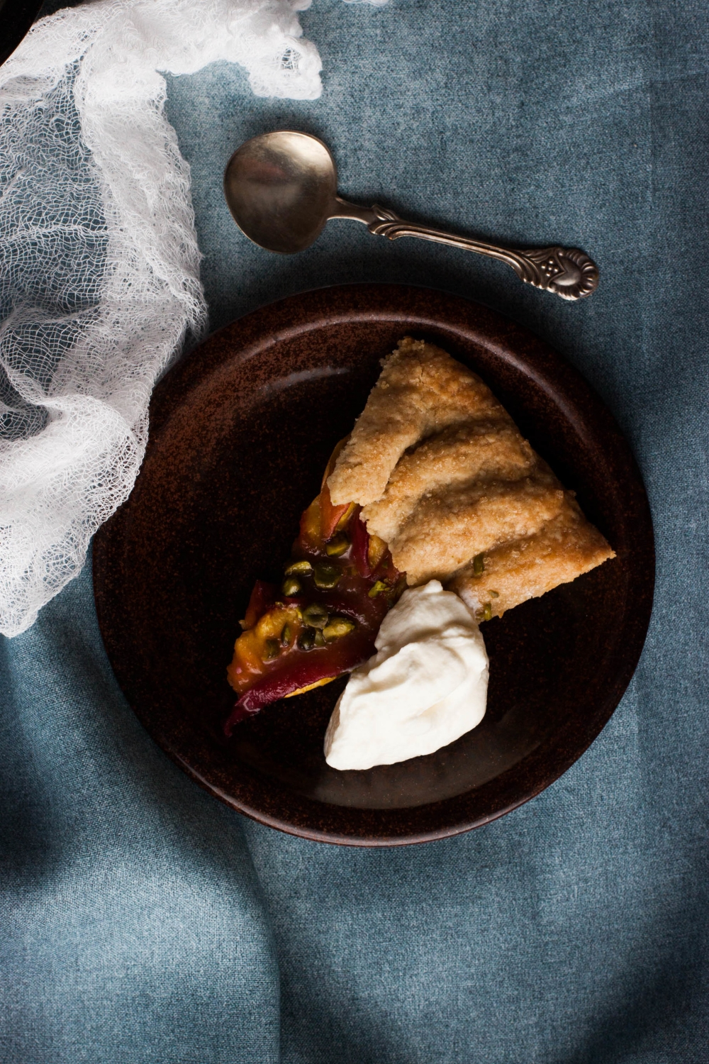 Rustic Peach Galette | my blue&white kitchen