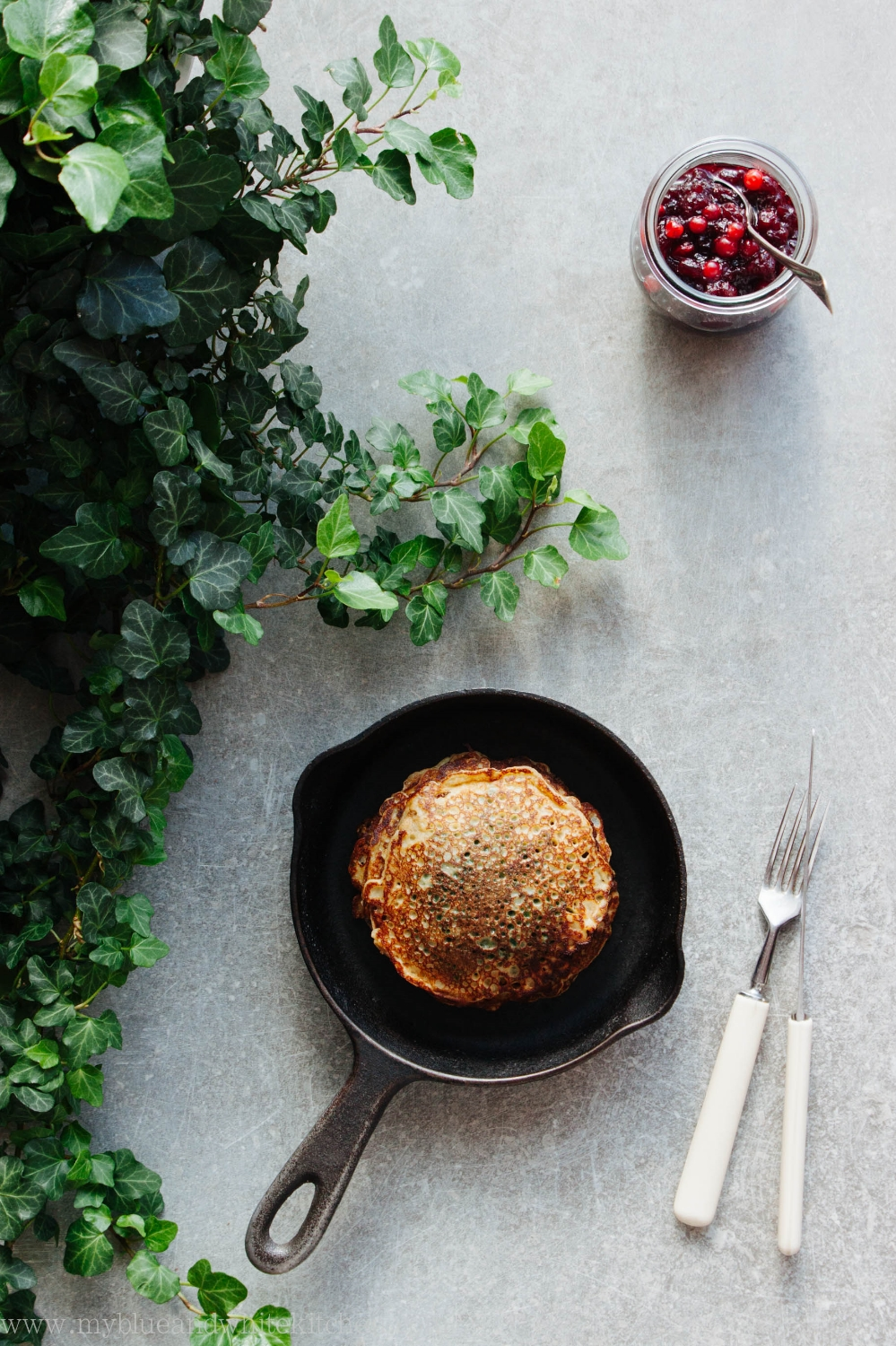 Stinging Nettle Pancakes | My Blue&White Kitchen