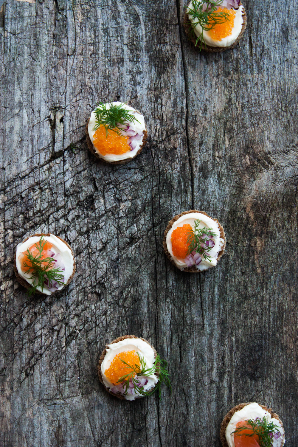 Finding light joy smoked fish spread my blue white for Canape garnishes