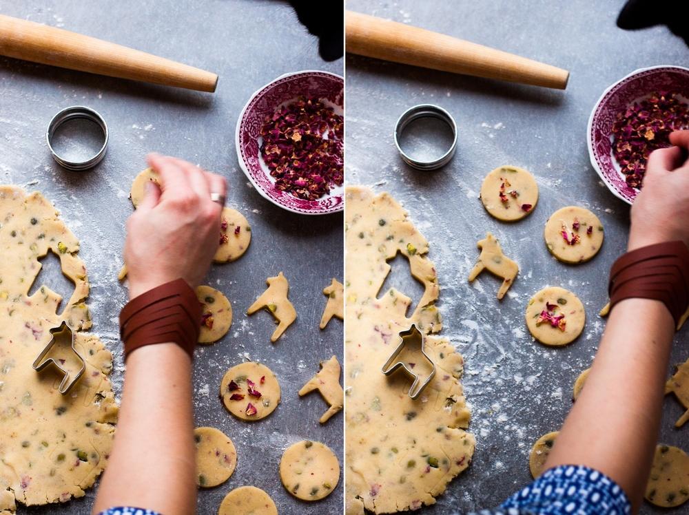 Rose Pistachio Shortbread | My Blue&White Kitchen