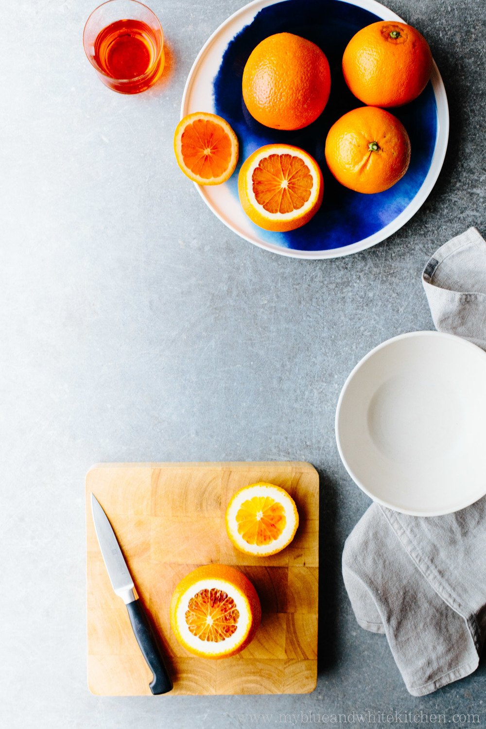 Nordic Pancakes w/ Blood Orange & Aperol Compote | My Blue&White Kitchen