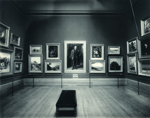 Interior of the Layton Art Gallery, ca. 1900, Wisconsin Historical Society.