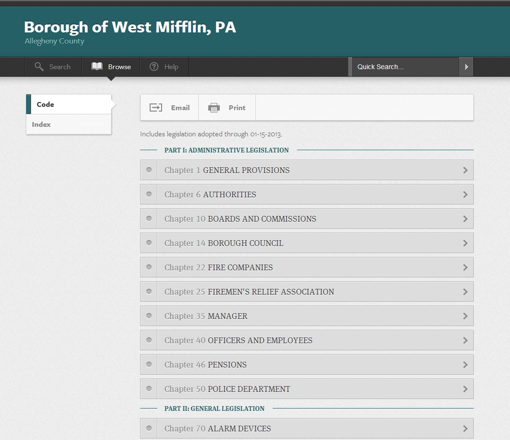 The Borough's Ordinances viewed on ecode360.