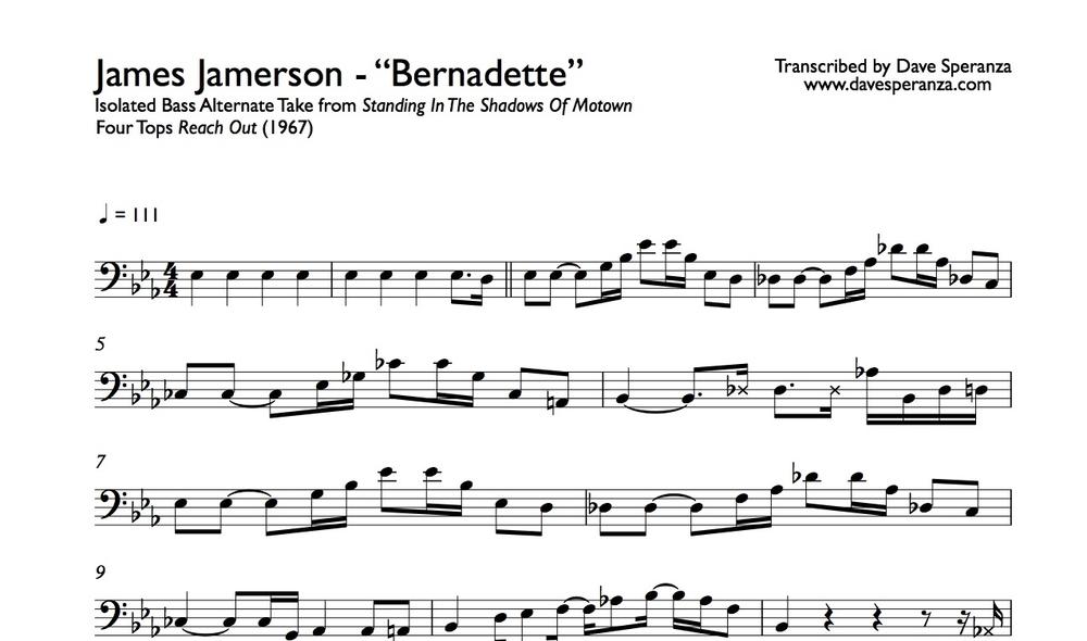 James Jamerson - Bernadette - Bass Transcription.jpg
