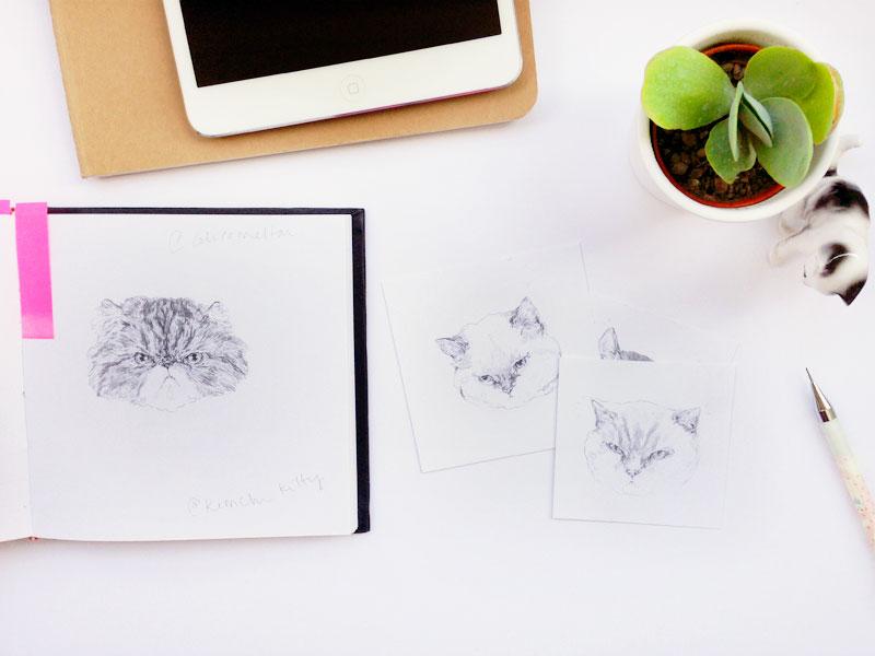 cat drawings ©helloharriet2014