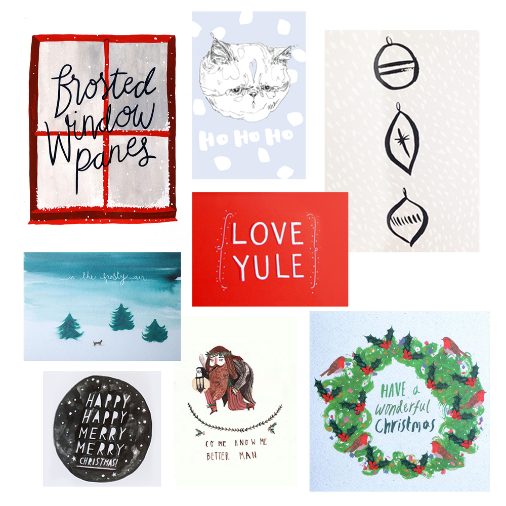 christmas cards as seasonal art