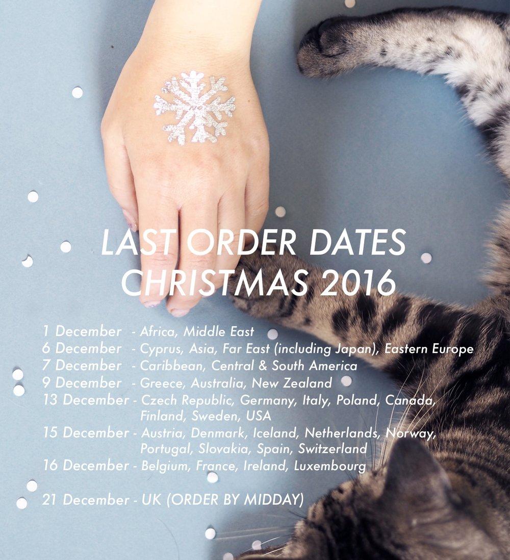 HH last order dates 2016
