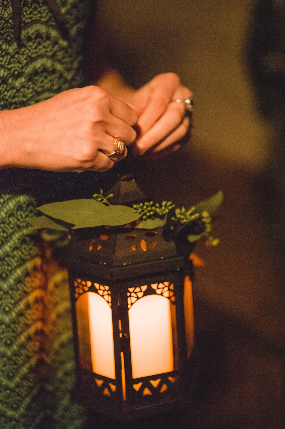 Wedding Lantern with Greenery