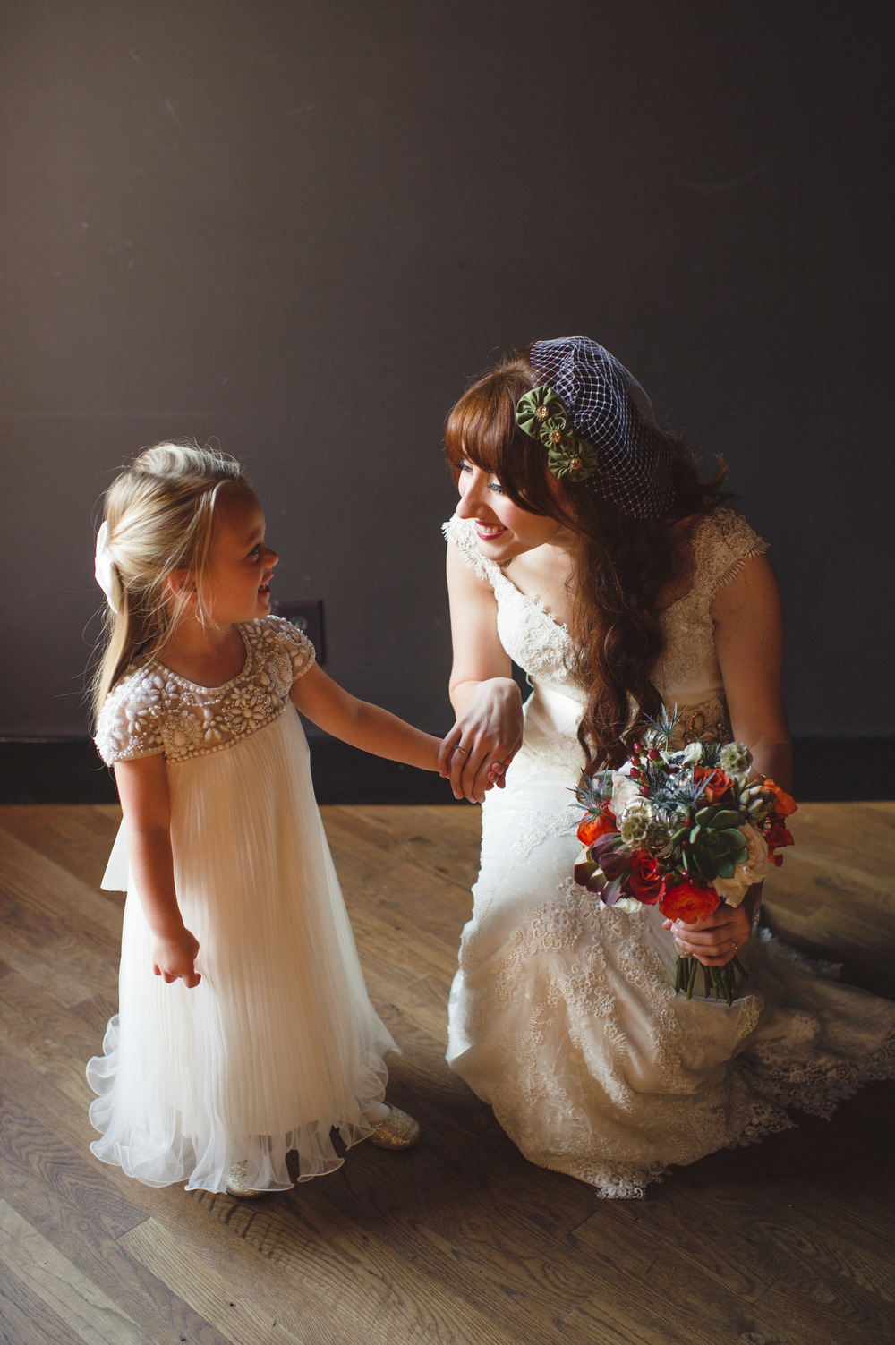 October Bride and Flower Girl