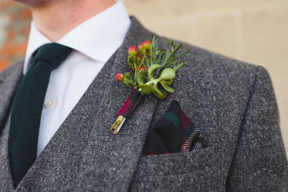 Fall Groom's Boutonniere