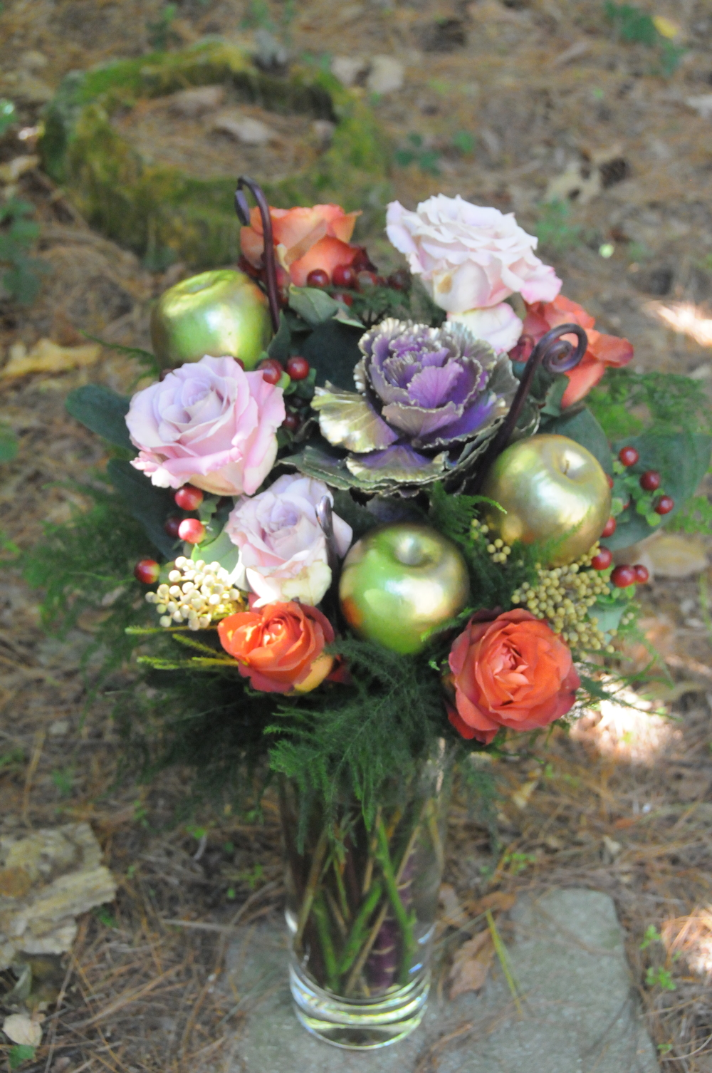 Autumn Centerpiece with Apples