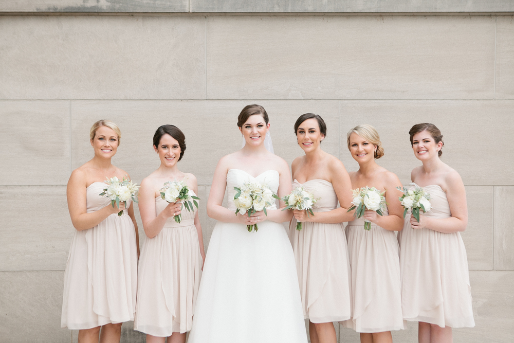 TN State Capitol Wedding // Bride and Bridesmaids // Floral Design