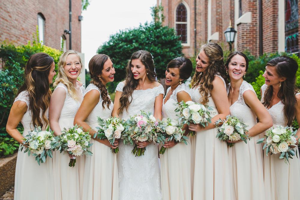Bride and Bridesmaids // Nashville Garden Wedding // Floral Design