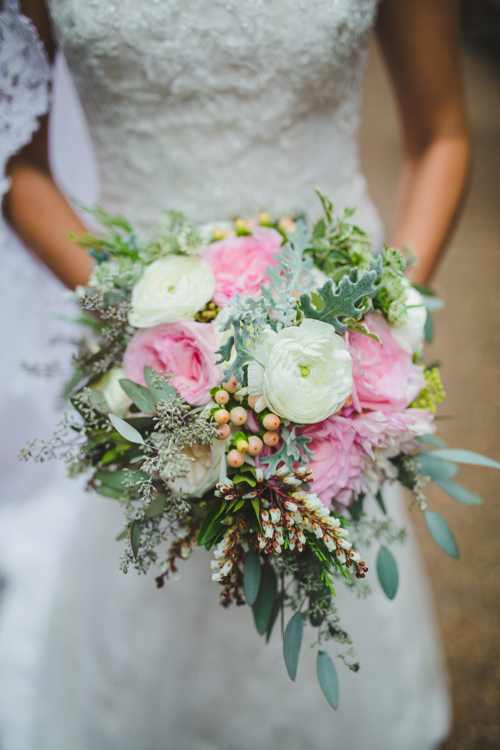 Whimsical garden bridal bouquet // Rosemary & Finch Floral Design