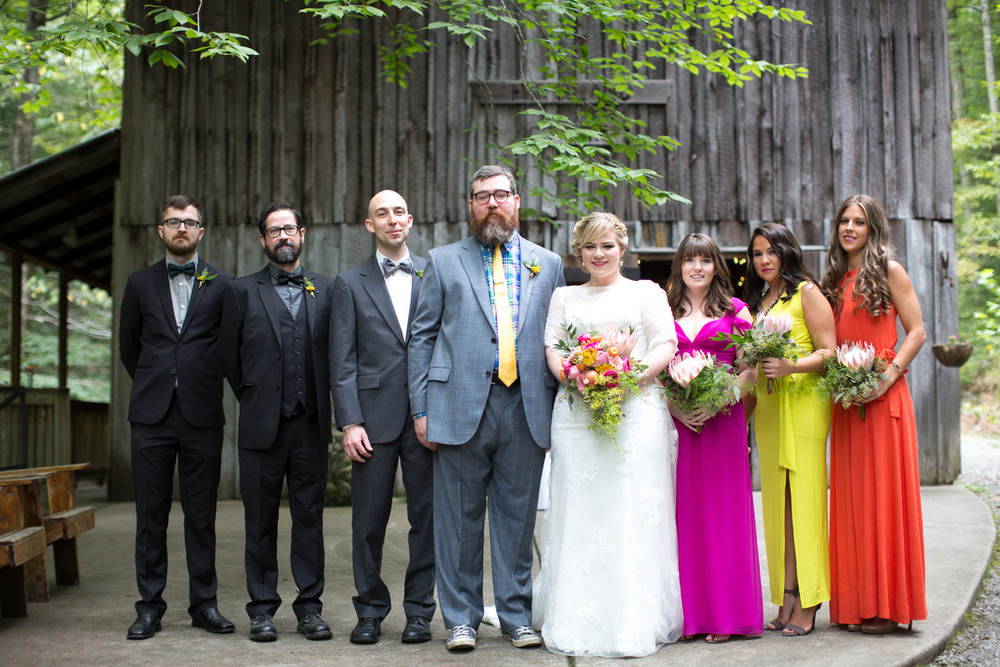 Wedding Party at Hachland Hill // Nashville Floral Design