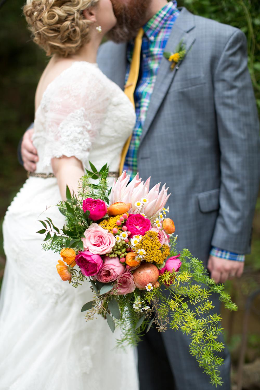 King protea bouquet // Nashville Wedding Flowers