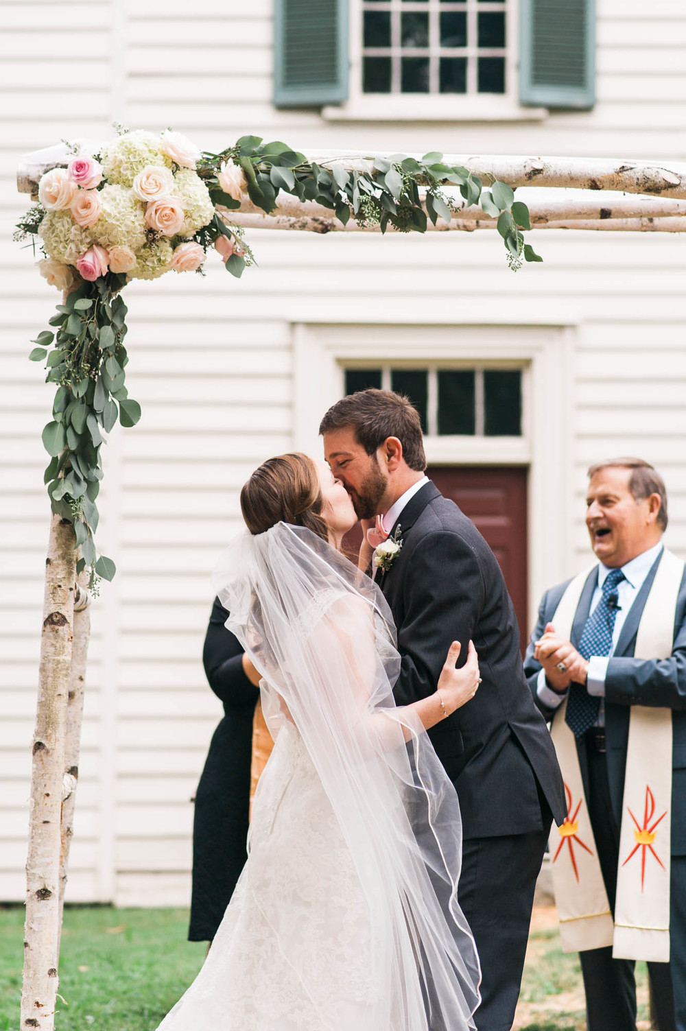 First Kiss Under a Chuppah // Nashville Wedding Flowers
