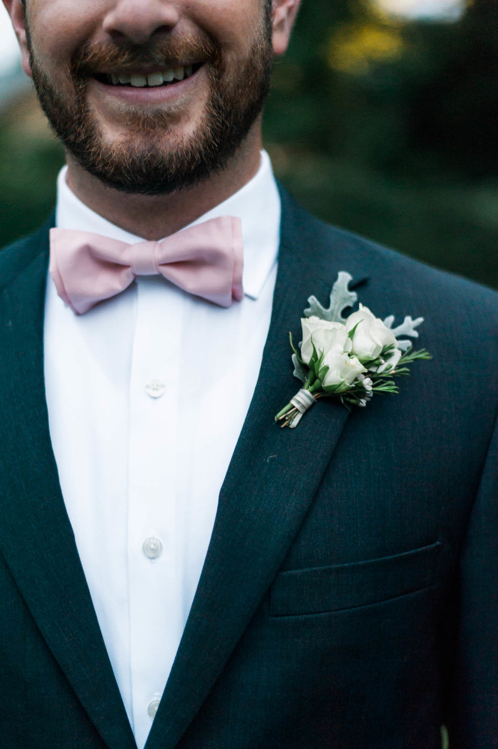 Cream and Soft Pink Wedding // Groom Boutonniere