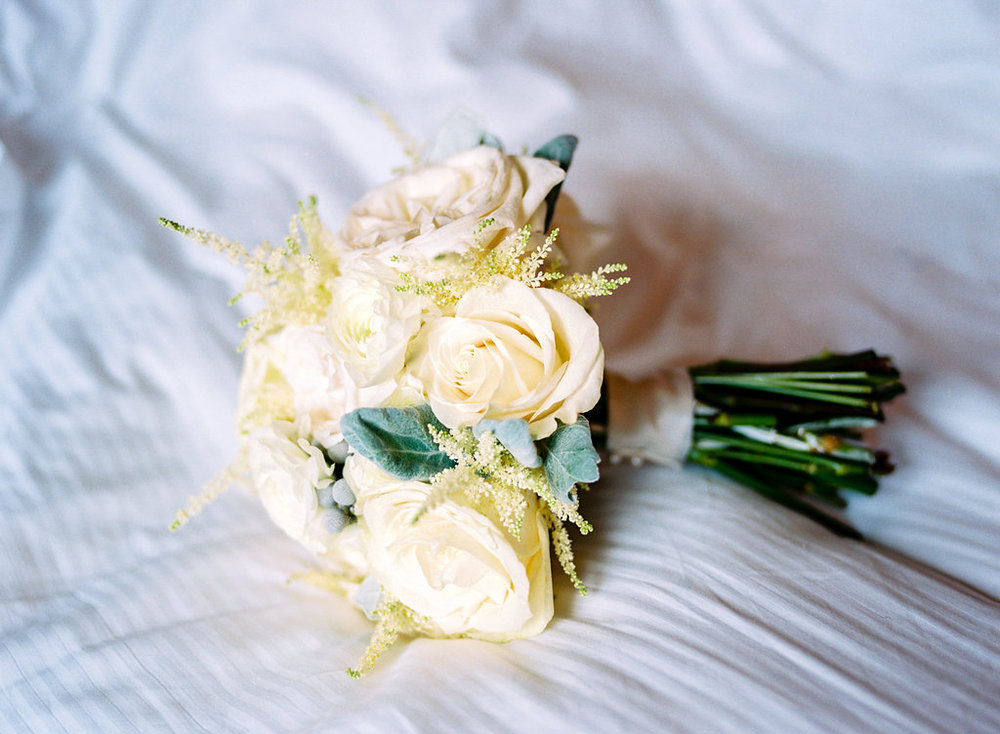 Cream Garden Rose Bridal Bouquet