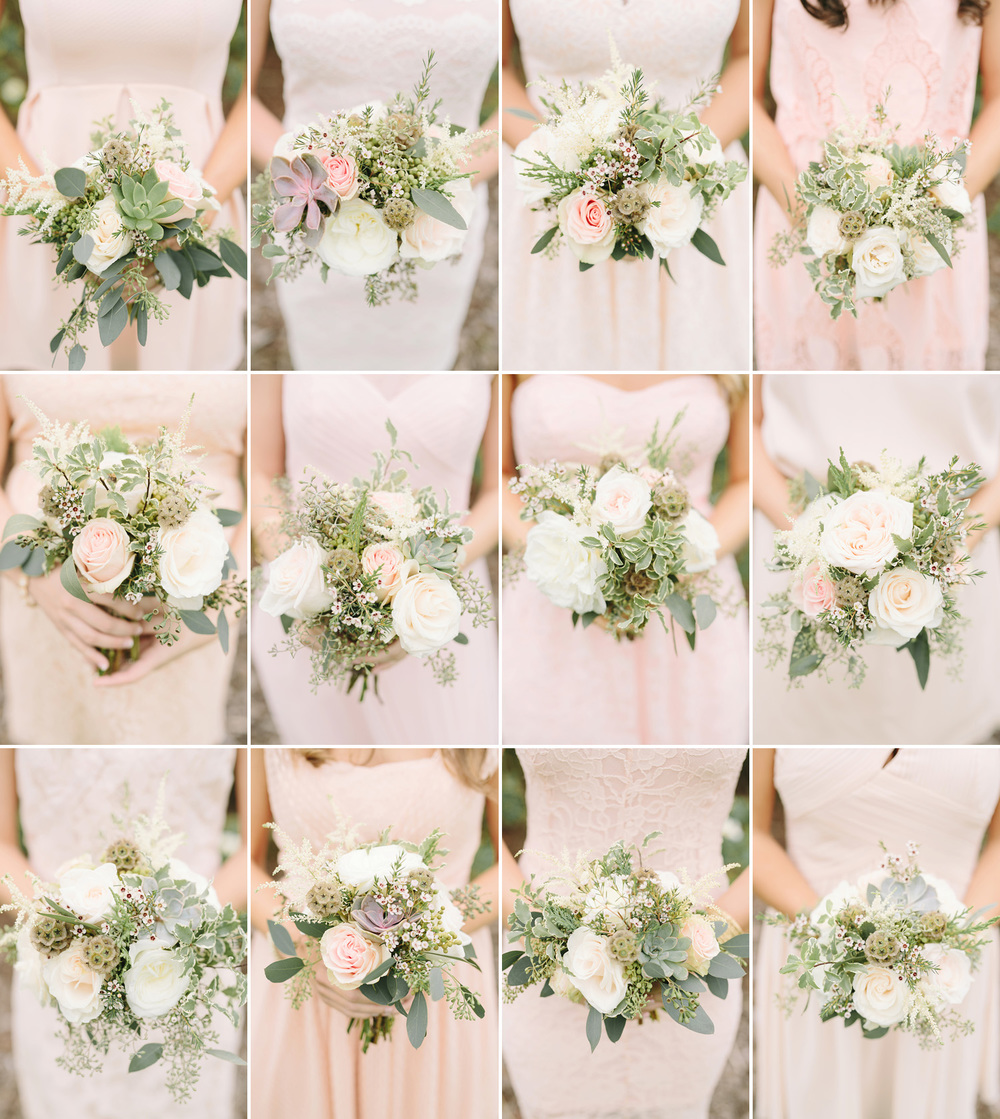 Blush and cream bridesmaid bouquet // Nashville Wedding Flowers