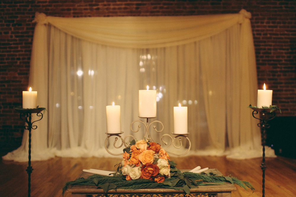 Unity Candle Floral Arrangement // Cannery One, Nashville, TN
