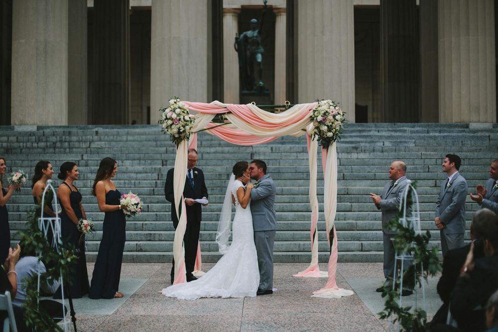 Downtown Nashville Wedding // Floral Design // War Memorial