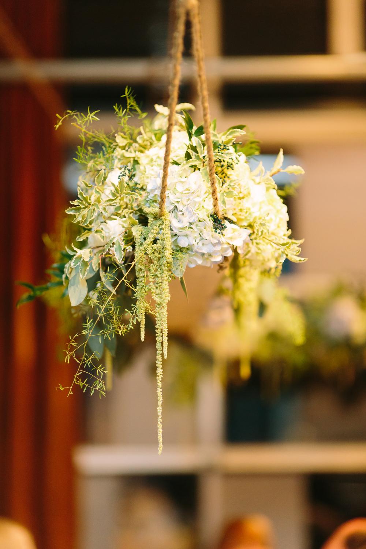 Hanging Floral Arrangement // Nashville Wedding Flowers at The Factory in Franklin