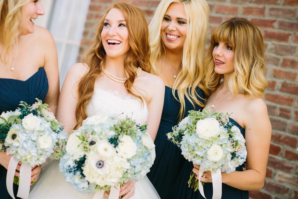 Bride and Bridesmaids Bouquets // Nashville, TN Wedding Flowers